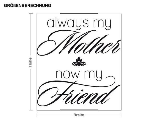 Wandtattoo Always my mother