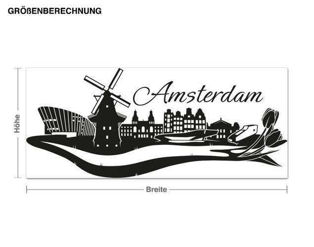 Wandtattoo Amsterdam