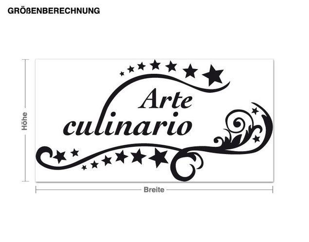 Wandtattoo Arte culinario