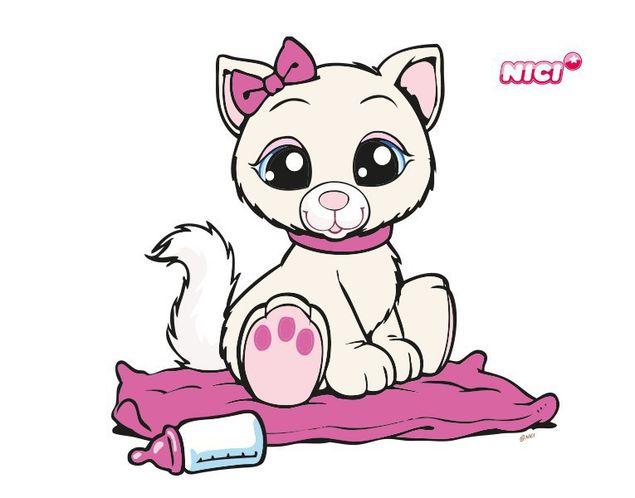 Wandtattoo Baby cat