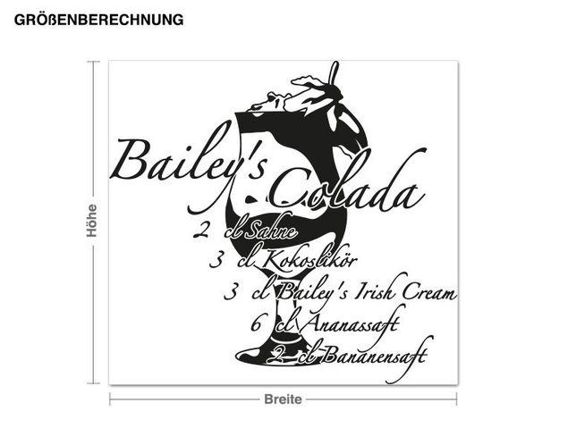 Wandtattoo Bailey's Colada