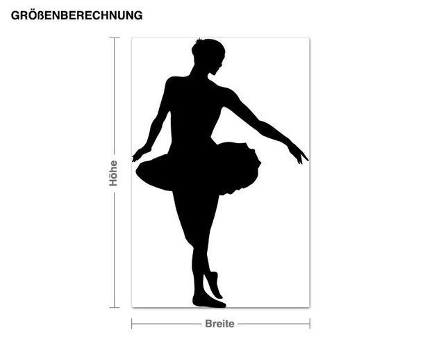 Wandtattoo Balletttänzerin