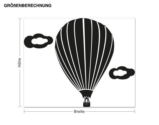 Wandtattoo Ballon Fahrt