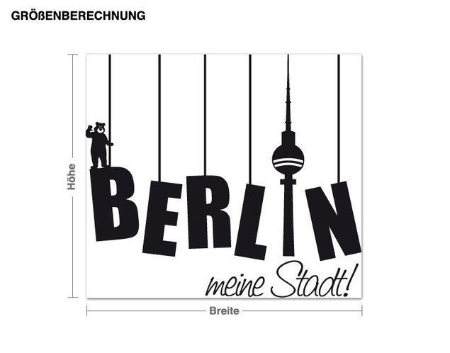 Wandtattoo Berlin meine Stadt