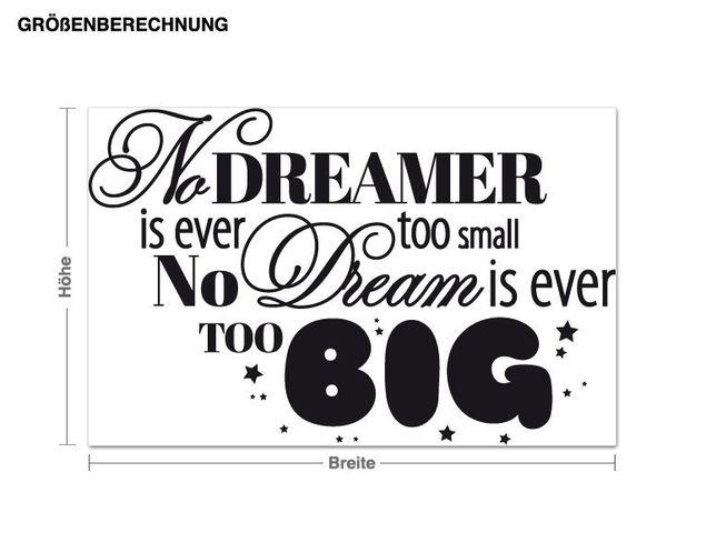 Wandtattoo Big Dreams