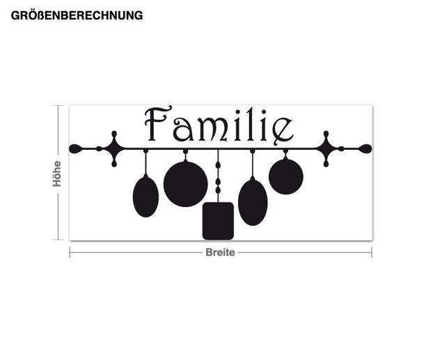Wandtattoo Bilderrahmen Familie