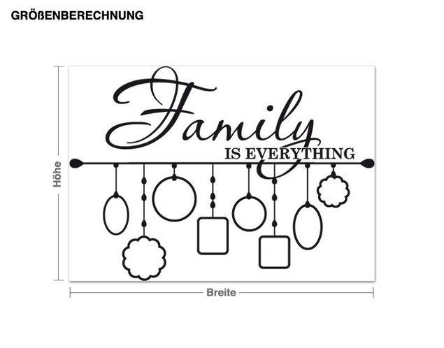 Wandtattoo Bilderrahmen Family