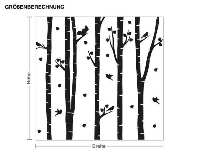 Wandtattoo Birkenwald