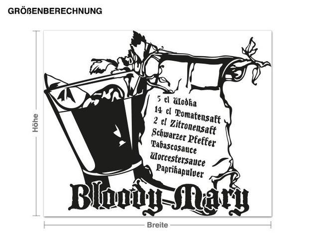 Wandtattoo Bloody Mary