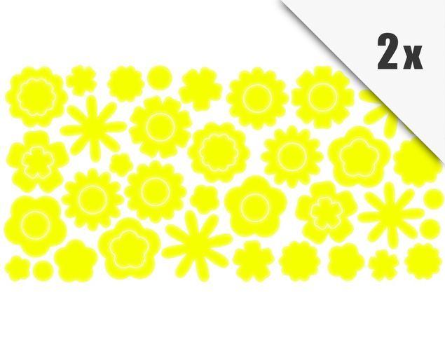 Wandtattoo Blüten 100er Set
