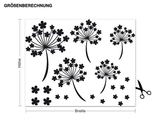 Wandtattoo Blütensamen