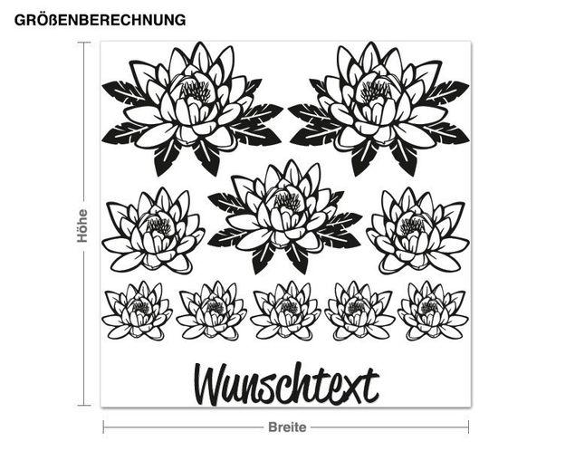 Wandtattoo Blumenset 5