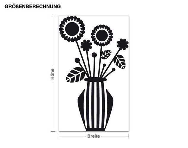 Wandtattoo Blumenvase