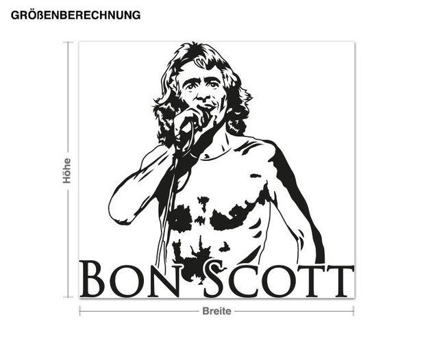 Wandtattoo Bon Scott