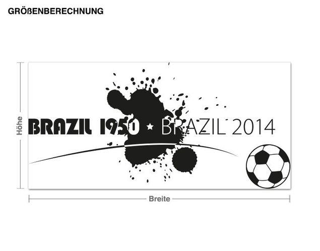 Wandtattoo Brasil 1950 2014