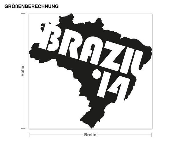 Wandtattoo Brazil '14