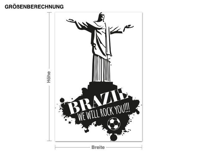 Wandtattoo Brazil We Will Rock You