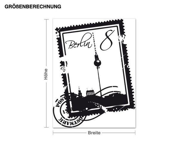 Wandtattoo Briefmarke Berlin