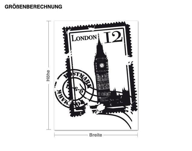 Wandtattoo Briefmarke London