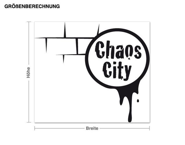 Wandtattoo Chaos-City