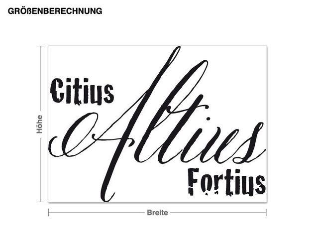 Wandtattoo Citius Altius Fortius