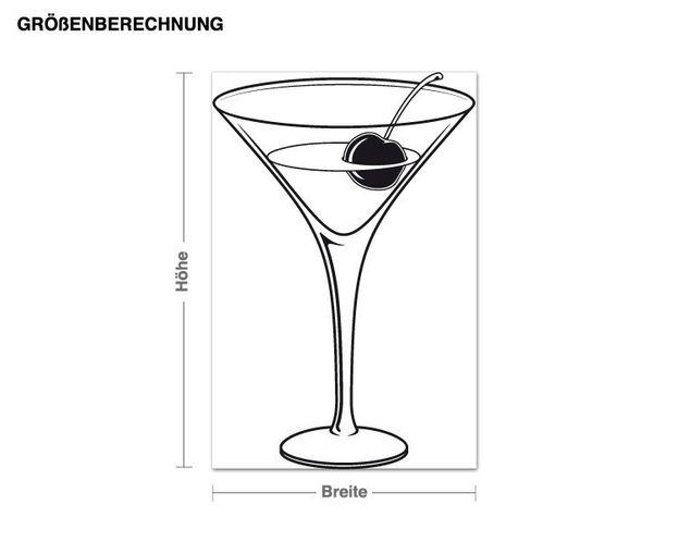 Wandtattoo Cocktail