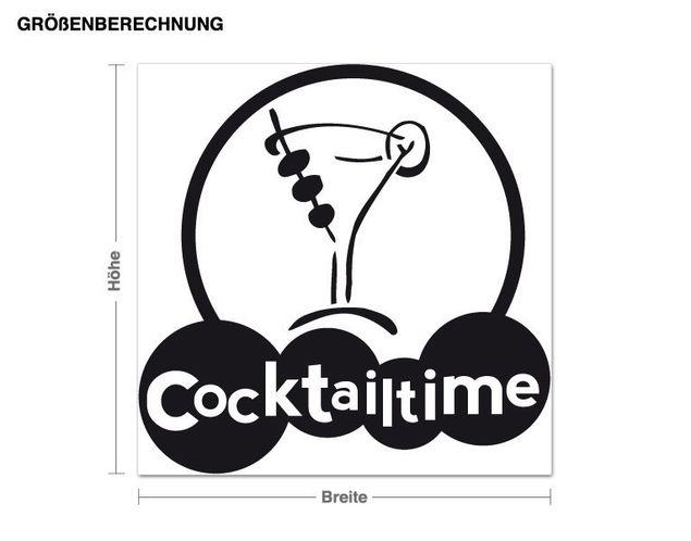 Wandtattoo Cocktailtime