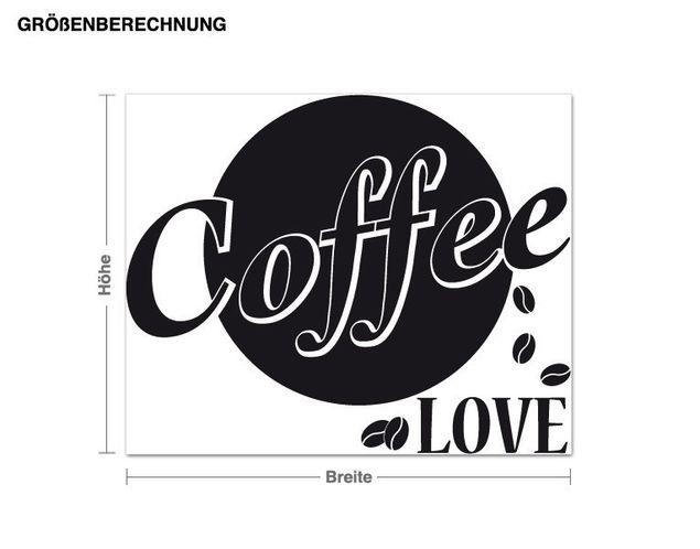 Wandtattoo Coffee Love