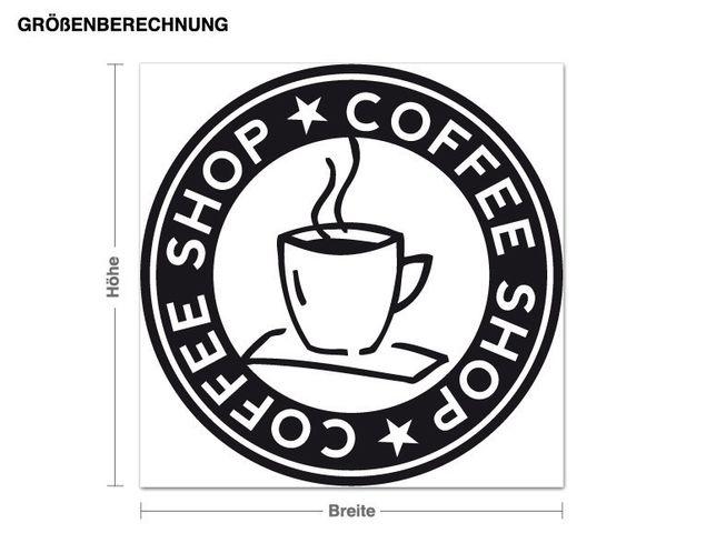 Wandtattoo Coffee-Shop