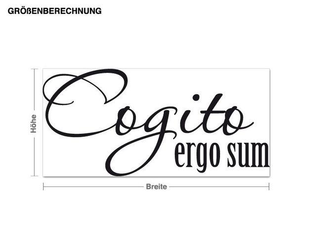 Wandtattoo Cogito Ergo Sum