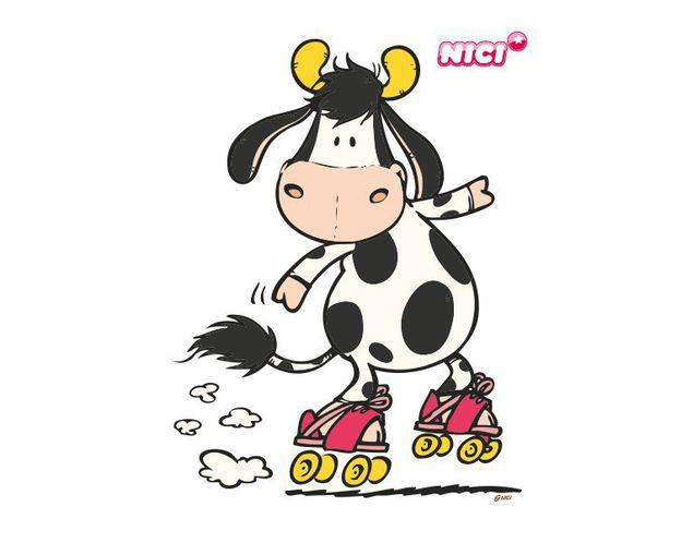Wandtattoo Crazy Cow
