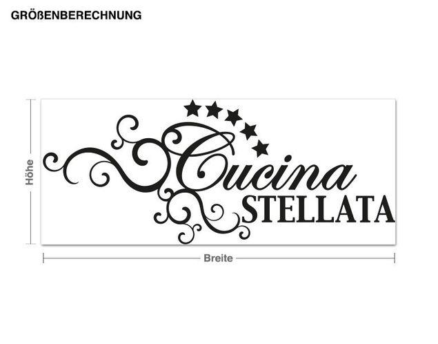 Wandtattoo Cucina Stellata
