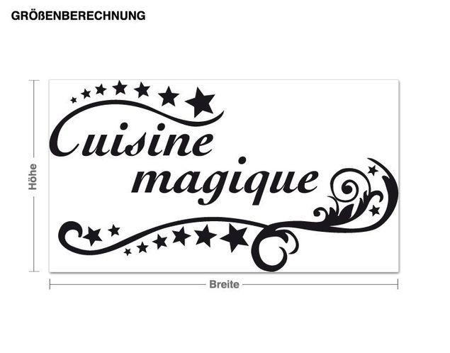 Wandtattoo Cuisine magique