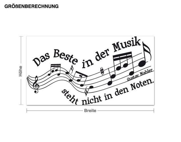 Wandtattoo Das Beste in der Musik