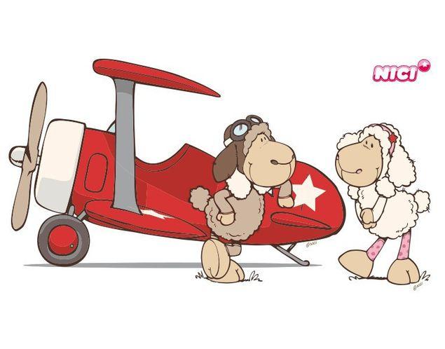 Wandtattoo Dean & Sue Flugzeug