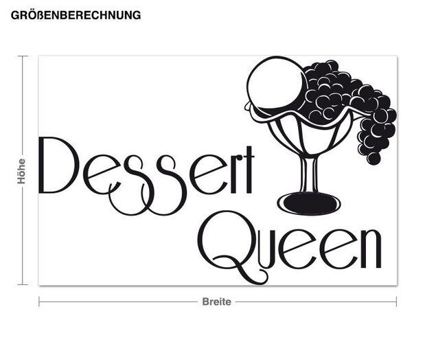 Wandtattoo Dessert Queen