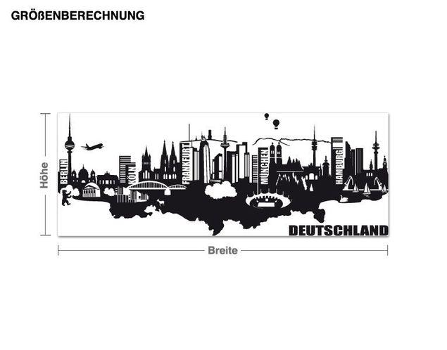 Wandtattoo Detailierte Deutschland Skyline