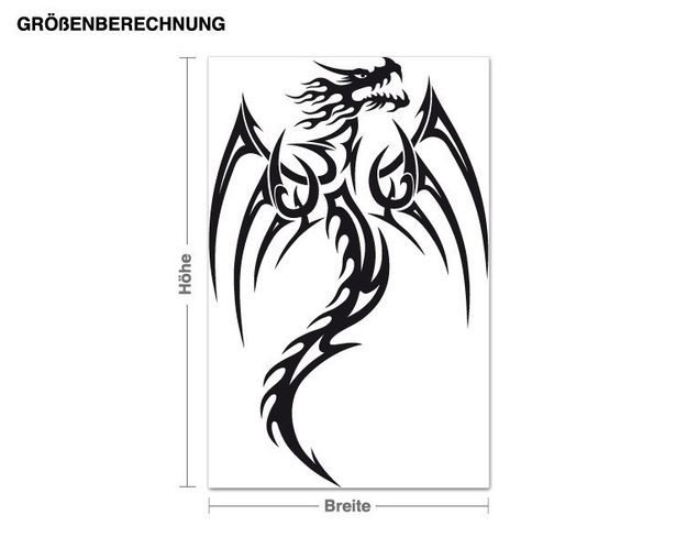 Wandtattoo Dragon
