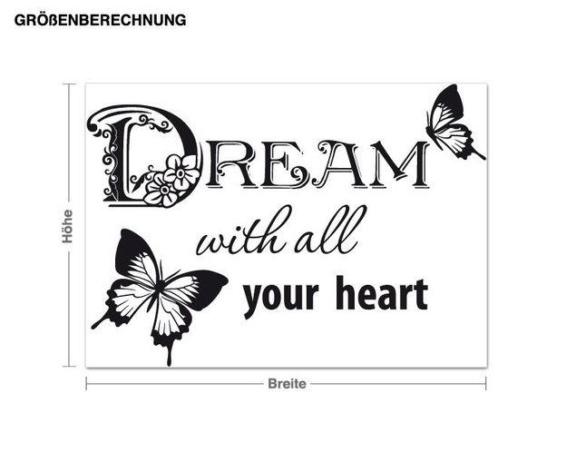 Wandtattoo Dream...