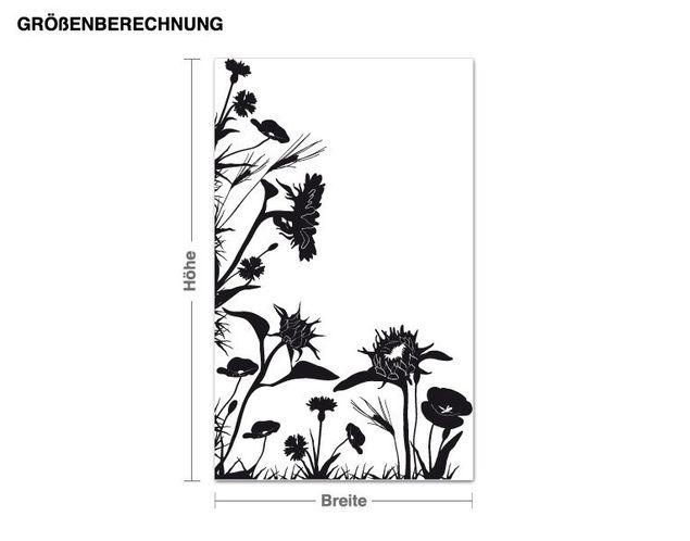 Wandtattoo Eck - Wiese Sonnenblumen