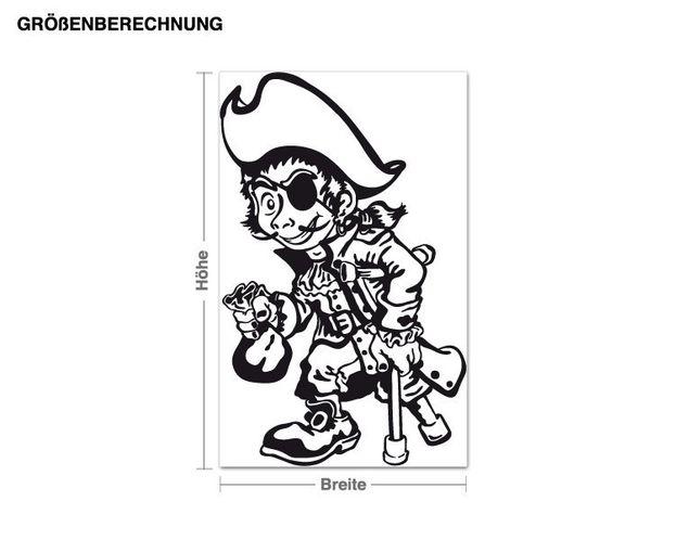 Wandtattoo Einbeiniger Pirat