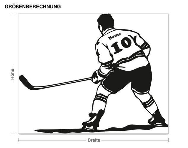 Wandtattoo Eishockeyspieler