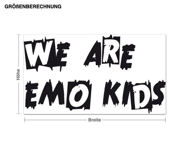 Wandtattoo Emo Kids