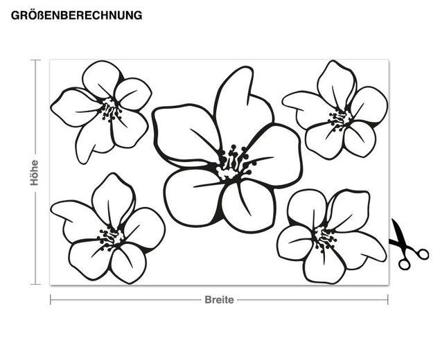 Wandtattoo Ergänzungsset Blüten