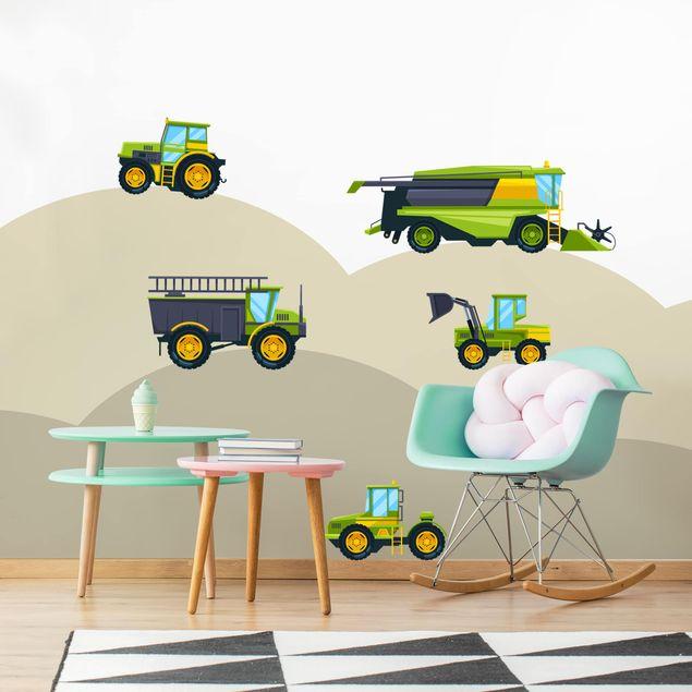 Wandtattoo - Erntemaschine, Traktor und Co