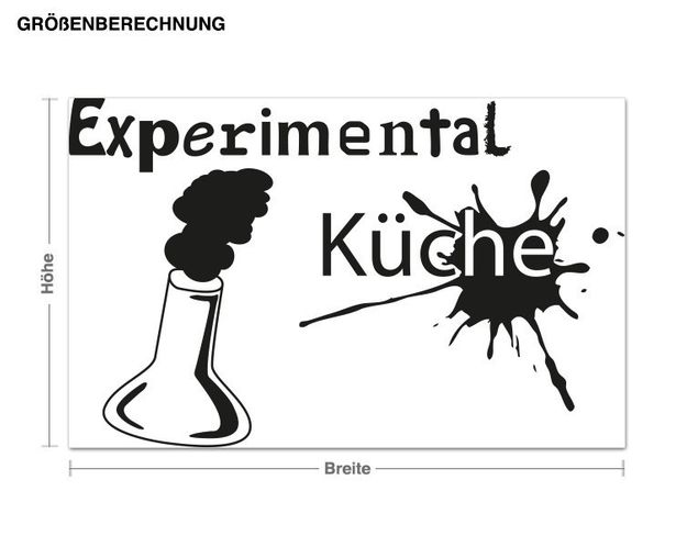 Wandtattoo Experimental Küche