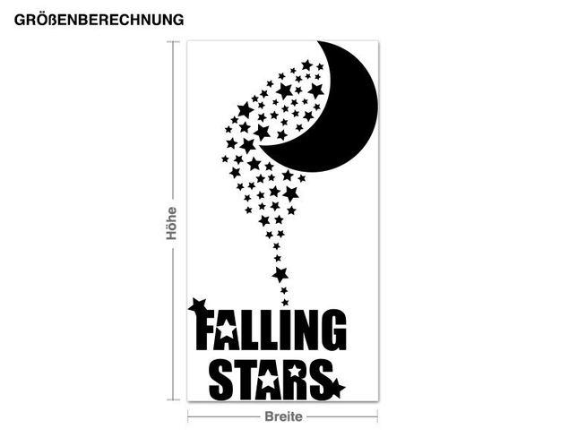 Wandtattoo Falling Stars