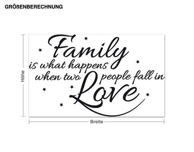 Wandtattoo Family happens