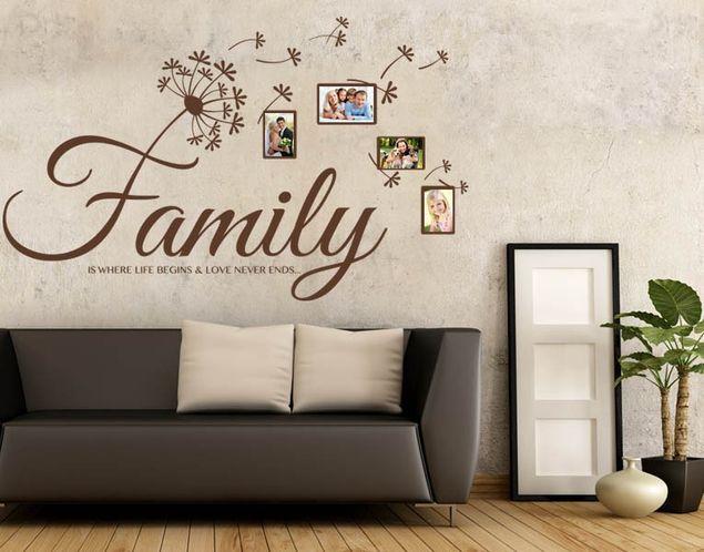 Wandtattoo Family Life Love