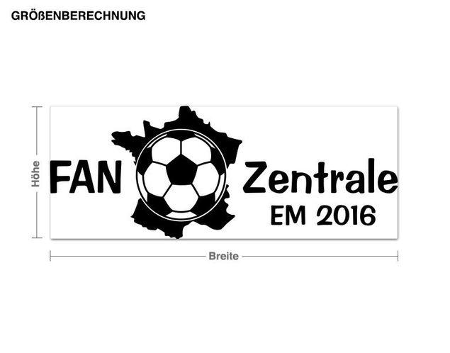 Wandtattoo FAN Zentrale EM 2016